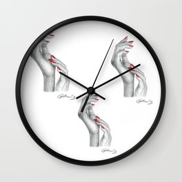 Complicità - Hand with Red Nails Wall Clock