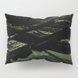 Abstract landscape field pattern intricate texture metallic structure macro background Pillow Sham