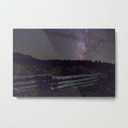 Glittered Night Metal Print