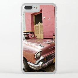 Vintage pink Chevrolet - Cuba Clear iPhone Case