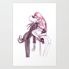 Tombstone Kiss Art Print