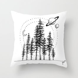 Forrest in Space Throw Pillow