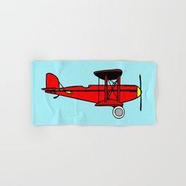 Red Biplane Hand & Bath Towel