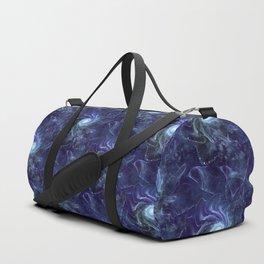 Midnight Lace Mixed Media Duffle Bag