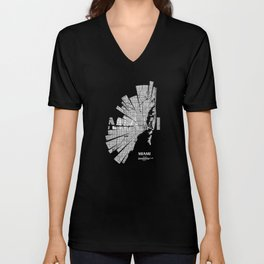 Miami Map Unisex V-Neck