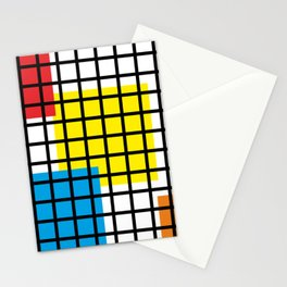 Modern geometric background, red, yellow, green,orange and blue  #society6 #decor #buyart #artprint Stationery Cards