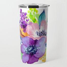 Flores en aquarela Travel Mug