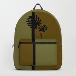 """Minimal retro tiki monstera"" Backpack"