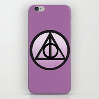 deathly hallows iPhone & iPod Skins featuring Deathly Hallows by AriesNamarie