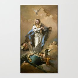 The Immaculate Conception by Giovanni Battista Tiepolo (c 1768) Canvas Print