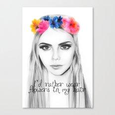 cara's flowers Canvas Print
