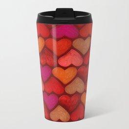 Love Pattern Metal Travel Mug
