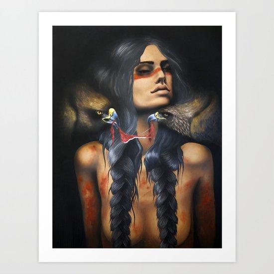 Running Eagle Art Print