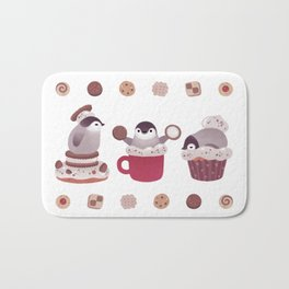 Cookie & cream & penguin Bath Mat