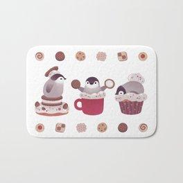 Cookie & cream & penguin Bath Mat
