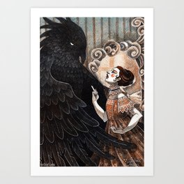 Beauty and the Beast II Art Print