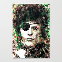 bowie Canvas Prints featuring BOWIE by Vonis