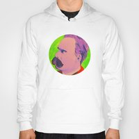 nietzsche Hoodies featuring Colorful Nietzsche by TheMessianicManic