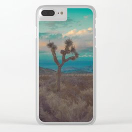 Joshua Tree Aqua Sunset Clear iPhone Case
