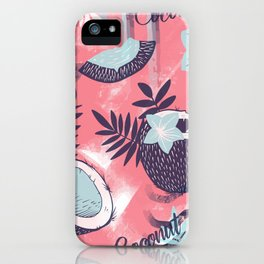 Colorful Coconut Pattern Design iPhone Case