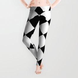 Large Diamonds - White and Black Leggings