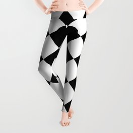 Large Diamonds - White and Black Leggings