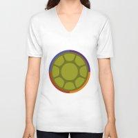 ninja turtle V-neck T-shirts featuring Ninja Turtle by R. Cuddi