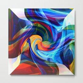 This Kiss Digital Abstract Art By Annie Zeno Metal Print