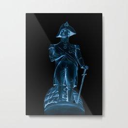 Nighttime Statue Metal Print