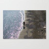 SEA MAN BEACH Canvas Print