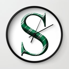 S for Slytherin Wall Clock