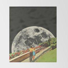 Moonwalk love Throw Blanket