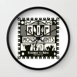RIP Houseplants - Puffy Ross Pop Art 2020 Wall Clock