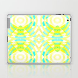 Funky geometry in yellow and blue Laptop & iPad Skin