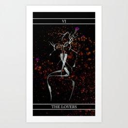 A Tarot of Ink Major Arcana VI The Lovers Art Print