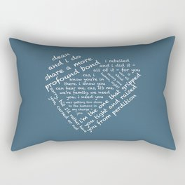 Quotes of the Heart - Destiel (White) Rectangular Pillow