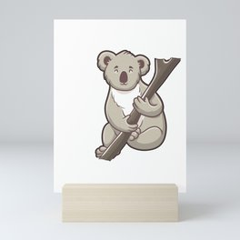 Cute Clingy? Me? No Way! Koala Funny Animal Pun Mini Art Print