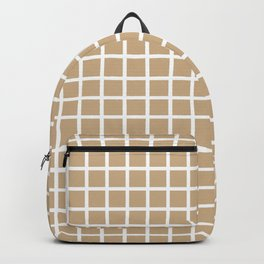 Grid (White & Tan Pattern) Backpack