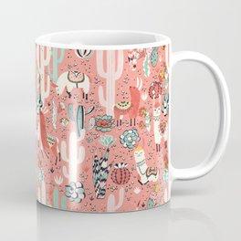 Lama in cactus jungles Coffee Mug
