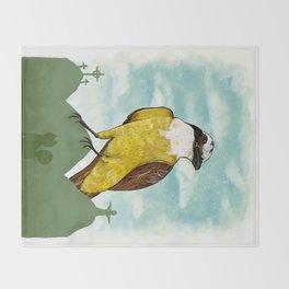 Bichofue cali // great kiskadee colombia Throw Blanket