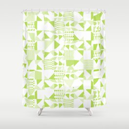 Triangles Patchwork #3 Shower Curtain