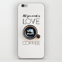 Love & Coffee iPhone Skin