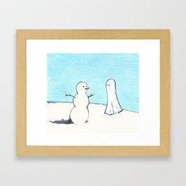 Winter Ghost Framed Art Print