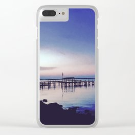 Breezy Waterfront Clear iPhone Case