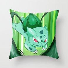 Grass Pocket Monster - 001 Throw Pillow
