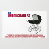 movie poster Area & Throw Rugs featuring The Untouchables Movie Poster by FunnyFaceArt