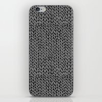 Hand Knit Dark Grey iPhone Skin