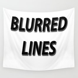 Blurred Lines Wall Tapestry