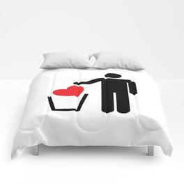 Heart Trash Bin Comforters