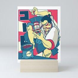 Samurai Making Coffee Samurai Warrior Mini Art Print
